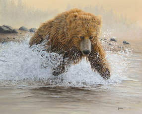 Wildlife Paintings and Nature Paintings by artist Johanna Lerwick from New York state